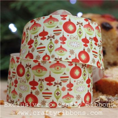 Christmas Charm Ribbon - Baubles